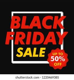 Black friday mega sale concept background. Flat illustration of black friday mega sale concept background for web design