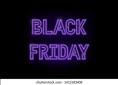 Black Friday neon lamp on black