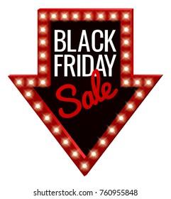 A Black Friday Sale arrow sign.