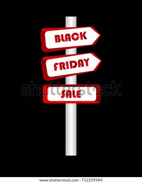 Black Friday Sale Illustration Red Color Stock Illustration 752239984