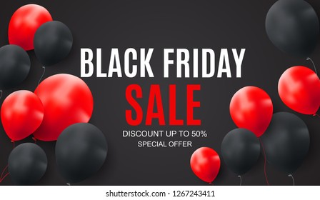 Black Friday Sale Inscription Banner Design Template.  illustration