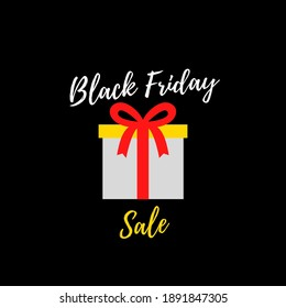 Black Friday sale on black background