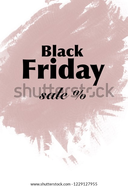 Black Friday Sale Quotes On Pastel Stock Illustration 1229127955