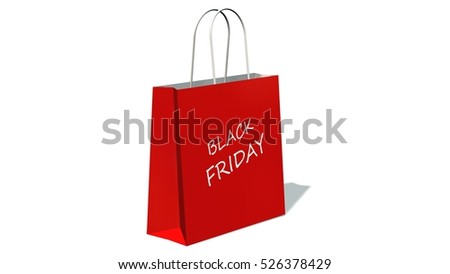 26dd3ab1d84 ... Stock Illustration 526378429 - Shutterstock. black friday sale - Red  shopping bag with the print black friday, isolated on white