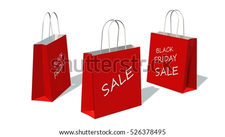 671dc623aa4 ... Stock Illustration 526378495 - Shutterstock. black friday sale - Red  shopping bag with the print black friday, isolated on white