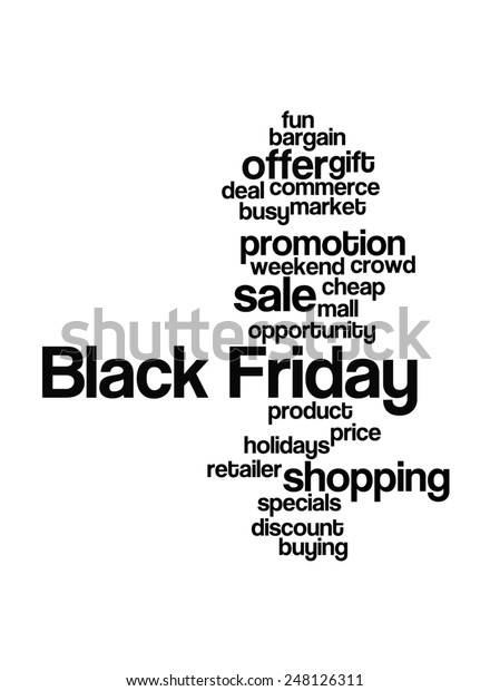 Black Friday Shopping Words Stock Illustration 248126311