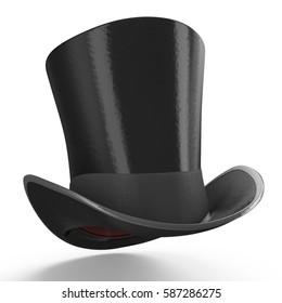 black gentleman hat