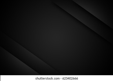 black gradient radial blur background, blank space for text.
