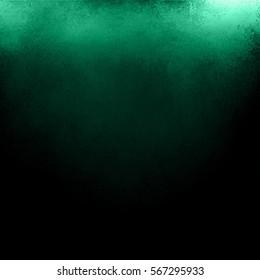 Black And Green Background Old Dark Vintage Grunge Texture With Shiny Corner Lighting