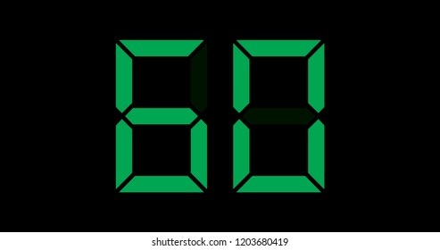 A Black and Green Retro Digital Counter - 60