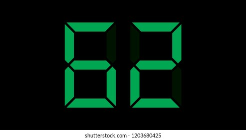 A Black and Green Retro Digital Counter - 62