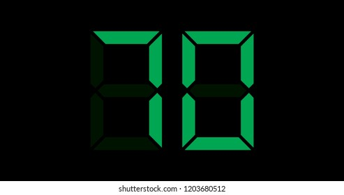 A Black and Green Retro Digital Counter - 70