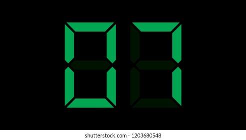 A Black and Green Retro Digital Counter - 07