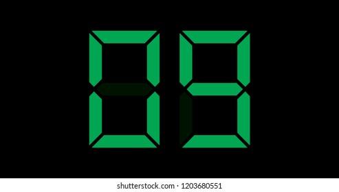 A Black and Green Retro Digital Counter - 09