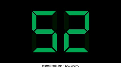 A Black and Green Retro Digital Counter - 52