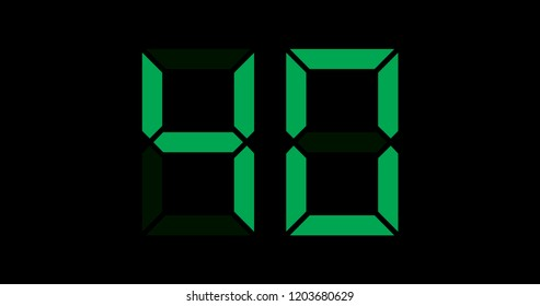 A Black and Green Retro Digital Counter - 40