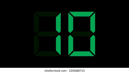A Black and Green Retro Digital Counter - 10
