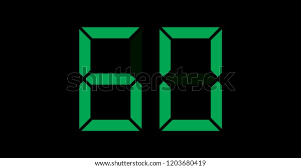 A Black and Green Retro Digital Counter - 60