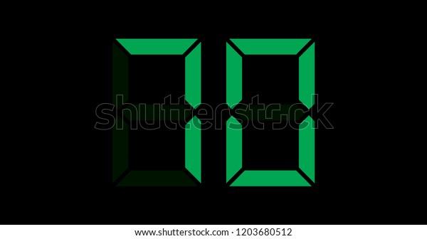 A Black and Green Retro Digital Counter - 70