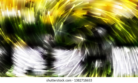 Black Green and Yellow Asymmetric Irregular Twirl Striped Lines Background