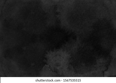 Black grunge background. Watercolor texture
