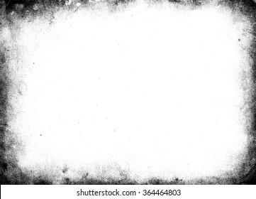 Black grunge frame. Grunge background. Border