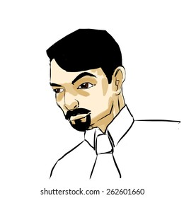 Download Black Haired Man Drawing Pics