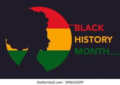 Black history month 2021 silhouette.