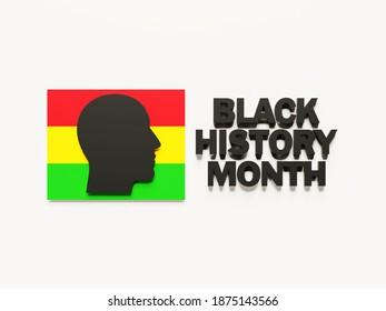 Black History Month Celebration illustration in 3d - 3d rendering concept