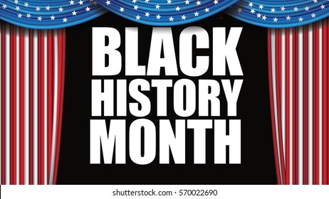 Black History Month design. For celebration and recognition in the month of February.
