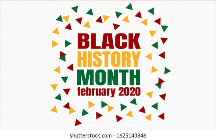 Black History Month February 2020  background. Poster, card, banner