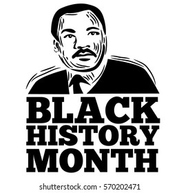 Black History Month stamp design. For celebration and recognition in the month of February.