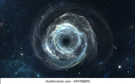 Black hole in deep space