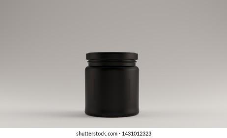 Black Honey Pot 3d illustration 3d render
