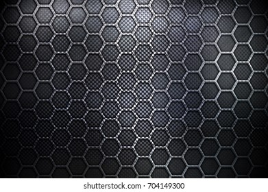 black honeycomb metal design background