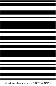 Black horizontal stripes on a white background over the whole sheet. Modern trendy simple texture.