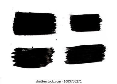 black ink brush painting splash textures