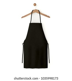black isolated apron 3d rendering