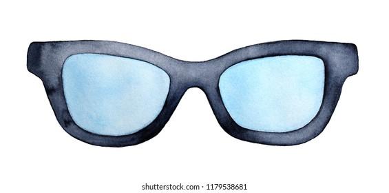 603af5b2dc Black large clear lens glasses. One single object
