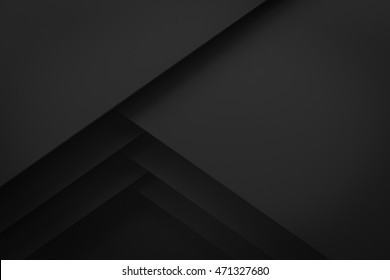 black layer layout paper material background 3d render