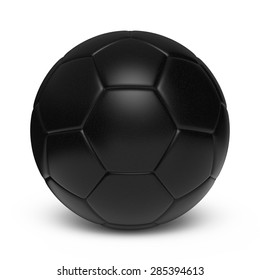 Black leather ball