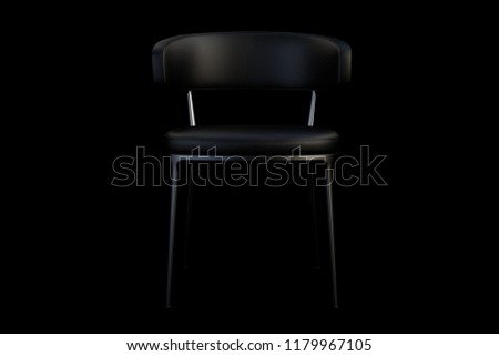 Wondrous Black Leather Chair Metal Legs On Stock Illustration Unemploymentrelief Wooden Chair Designs For Living Room Unemploymentrelieforg