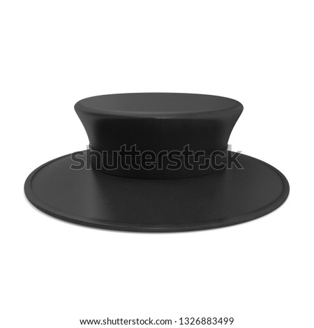 1f08cc518 Black Leather Top Hat Isolated On Stock Illustration 1326883499 ...