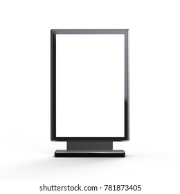 Black light box stand mockup, 3d rendering sign board template for advertising uses