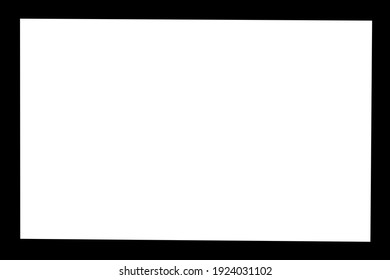 Black line frame background picture on white