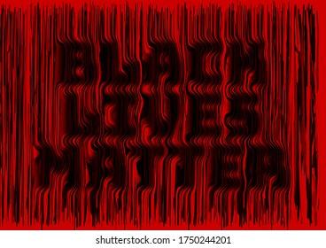 Black Lives Matter 3D rendering text. stop racism. I can't breathe. police violence. stop violence. poster. Protest