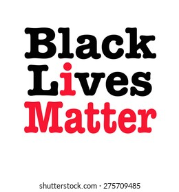 Black lives matter slogan