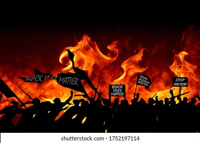 Black Lives Matter, a socio-political movement that is fighting for a better integration of minorities in the American USA US society and the stop of police brutality turns into riot and chaos