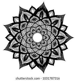 black mandala art