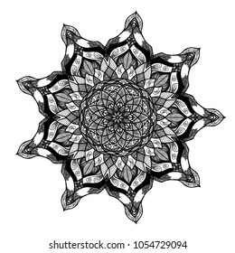Black mandala design